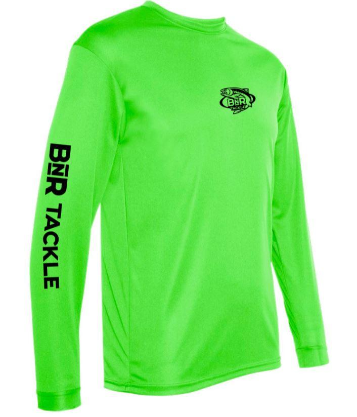 BnR Tackle Long Sleeve Tee – Lime Green